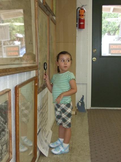 Karisa looking at the maps