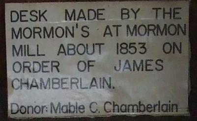 mormon desk